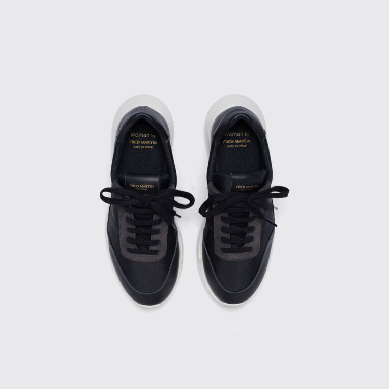 IDO_Black_Leather_sneaker_women_principal